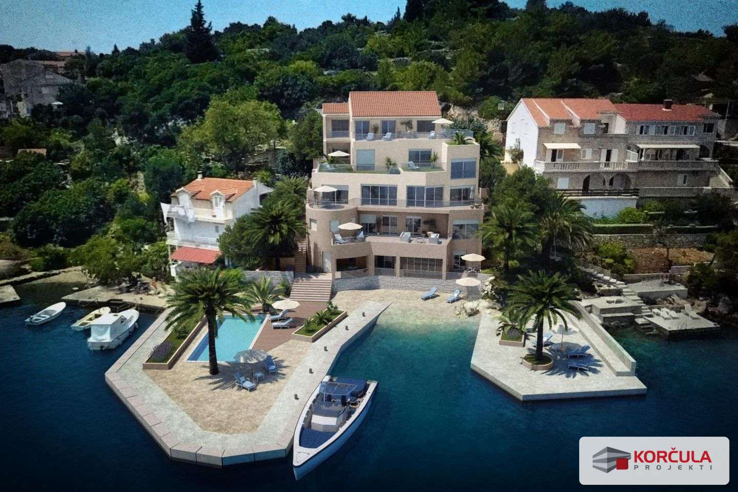 Luxury newly built apartments, first row to the sea