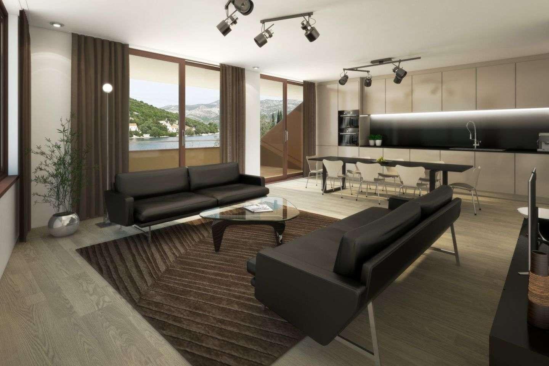 Moderno opremljen stan u sklopu nove troetažne zgrade, prvi red do mora