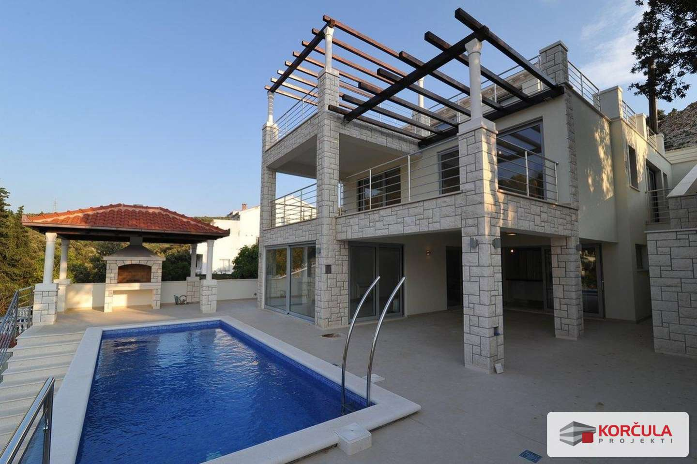Three storey seaside villa with swimming pool