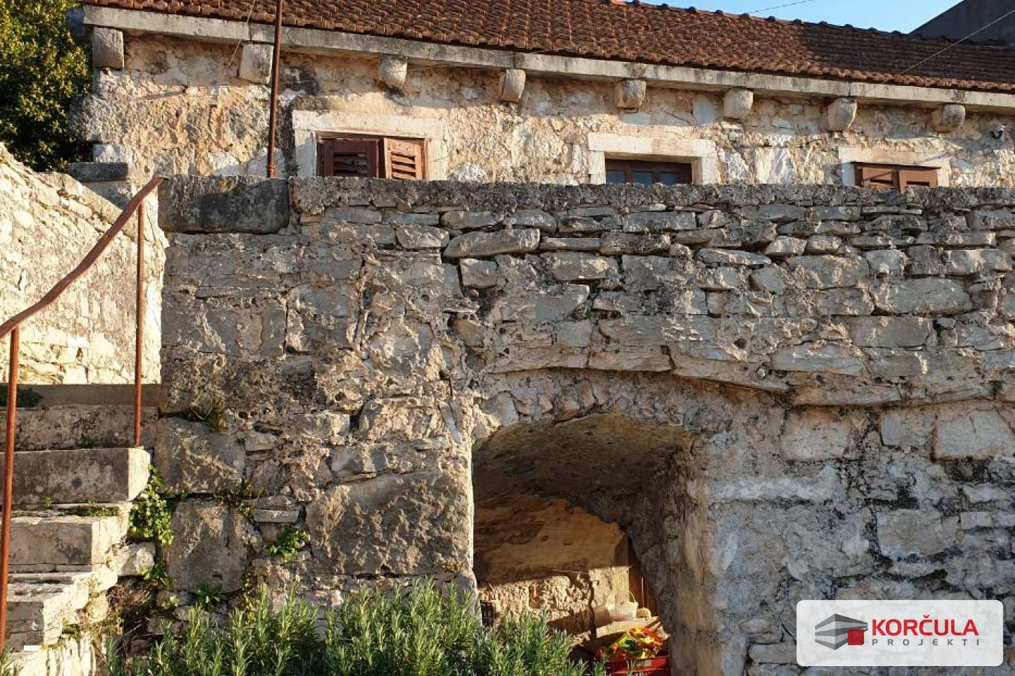 Beautiful old stone house near the historic castle - a renovation project
