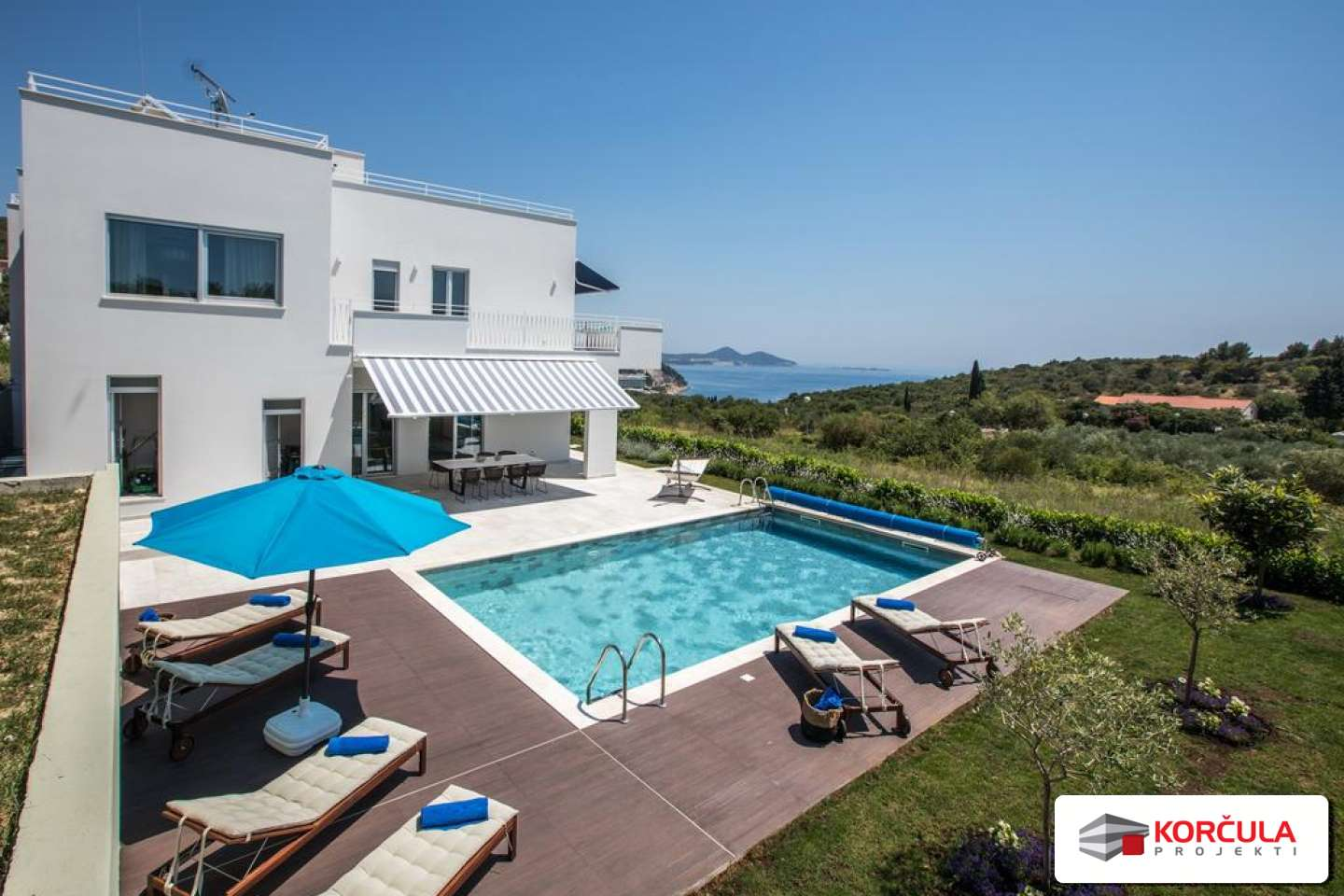 5-star villa with pool and sea view, Dubrovnik Riviera
