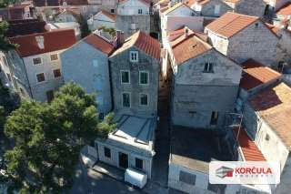 16th-century stone house in Korčula old town, first row to the sea