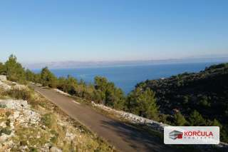 Land near Vela Luka, in the middle of untouched nature and with panoramic sea view