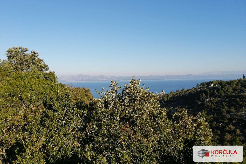 Zemljište u blizini Vele Luke, usred netaknute prirode i s panoramskim pogledom na more