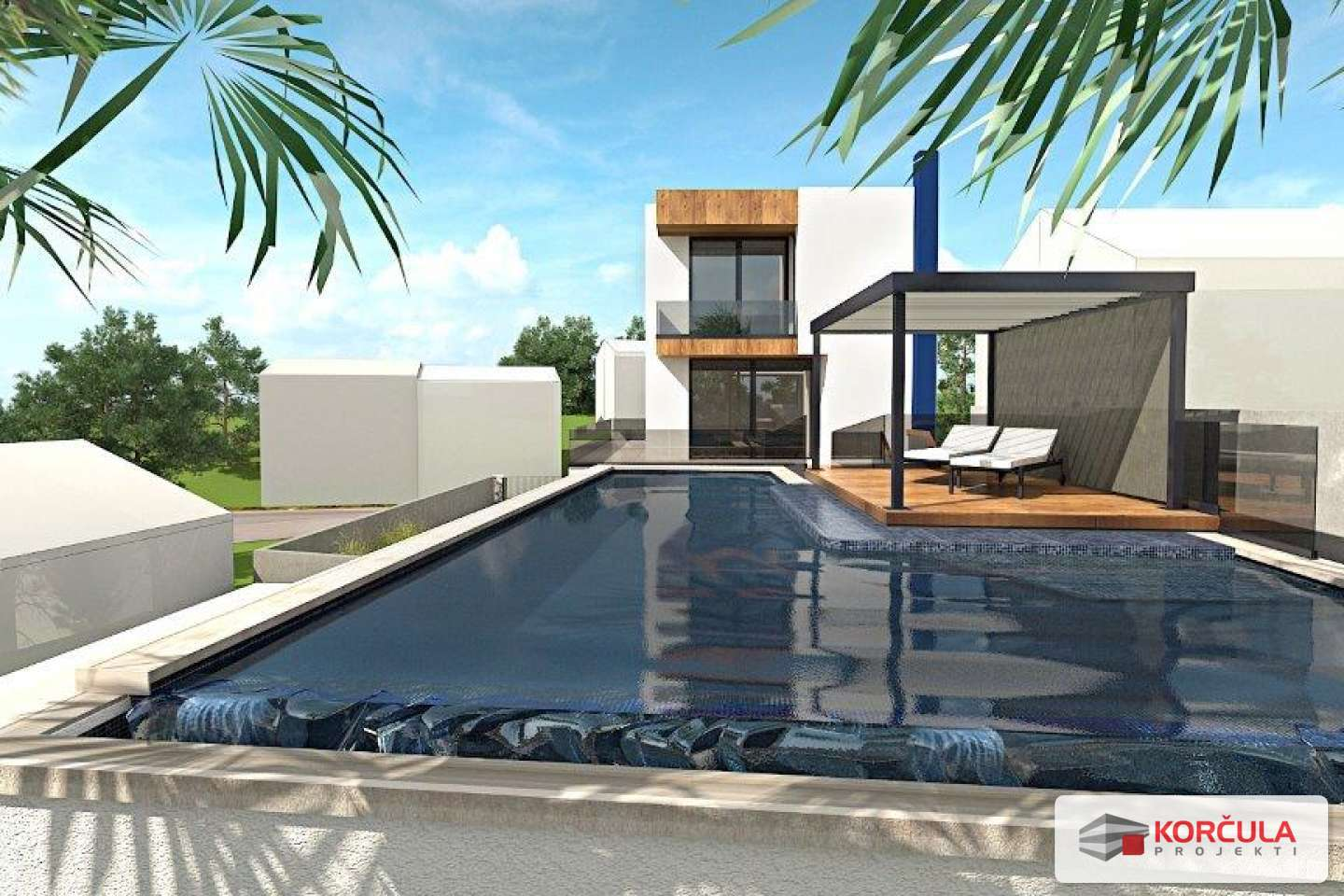 Luxury comfortable villa in Korčula town - new building, exceptional opportunity