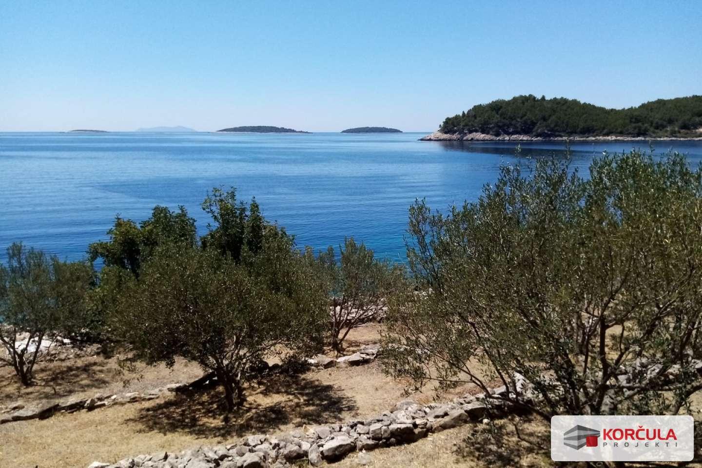Top-lokacija: građevno zemljište na južnoj obali otoka Korčule, prvi red do mora
