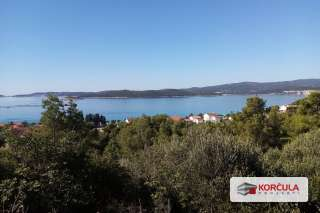 Excellent location above small seaside city of Orebić - panoramic sea view