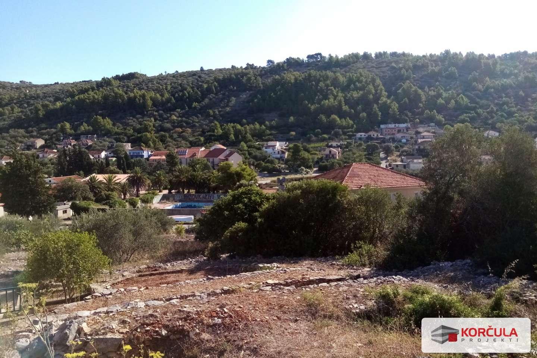 Dva građevinska zemljišta u Veloj Luci, neposredna blizina ceste, pogled na velolučki zaljev