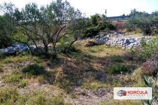 Agricultural lands, flat terrain, close proximity to Korčula town