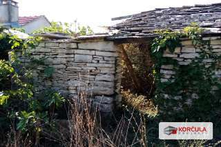 Building land for sale, traditional and authentic stone house, renovation project