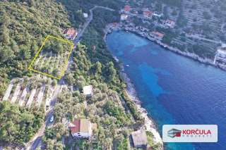 Building – agricultural land for sale in a magical and hidden bay on the northen part of the island of Korčula
