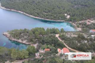 Large and spacious building land located in a magical place on the western part of the island of Korčula, with the possibility of a land division