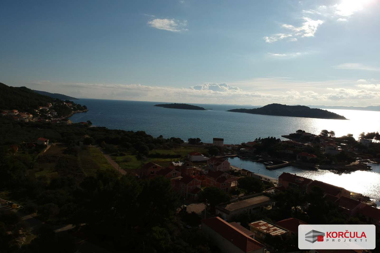 Zemljište na južnoj strani otoka s panoramskim pogledom na more