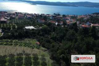 Building land, spectacular view overlooking Pelješac channel, archipelago and sant Ilija hill