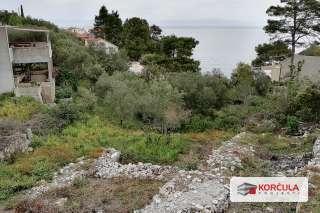 Građevinsko zemljište, drugi red od mora, mirni predio na sjevernoj strani otoka Korčule, predivan pogled