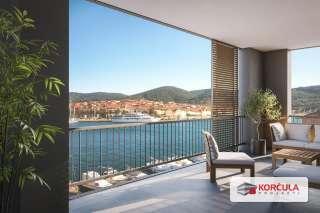 Fantastična lokacija, više stambenih jedinica, novogradnja, zapadni dio otoka Korčule, prvi red od mora