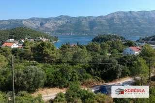 Građevinsko zemljište s panoramskim pogledom na more, u blizini grada Korčule